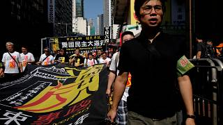Hong Kong'da insan hakları protestosu