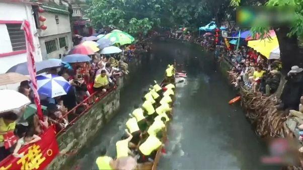 مسابقه قایق های دراگون در چین