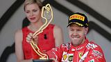 F1: Monaco GP'de zafer Vettel'in