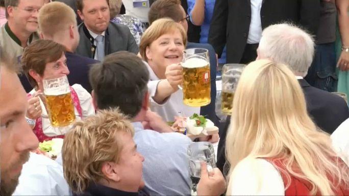 Weltpolitik in München-Trudering: Merkel beschwört Einheit Europas