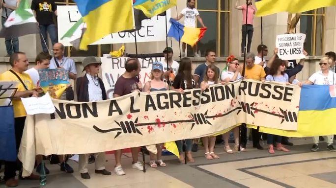France : manifestation hostile à la venue du président russe