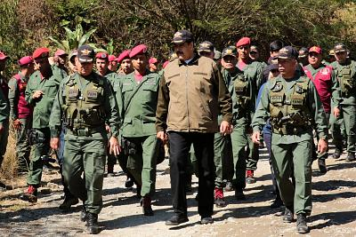 Venezuela\'s President Nicolas Maduro attends a military exercise in in Caracas, Venezuela on February 1, 2019.