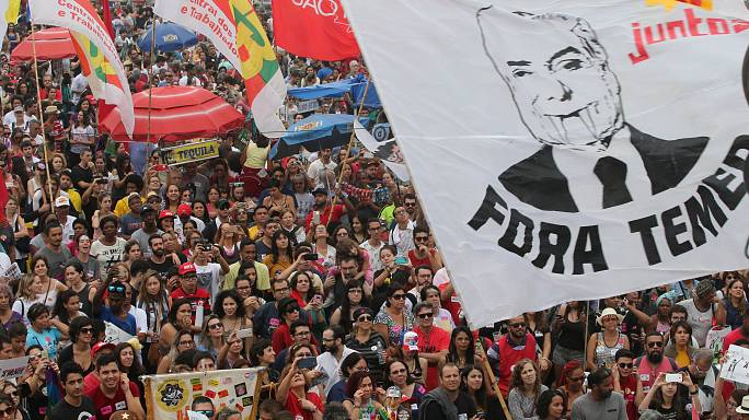 Multitudinario concierto en Copacabana contra el presidente Temer
