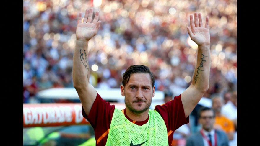 A Despedida do capitão da Roma