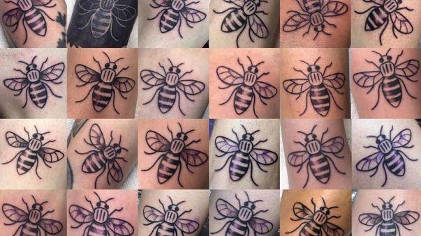 Manchester : des tatouages d'abeilles pour aider les victimes