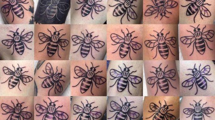 """Manchester'da dayanışmanın bir diğer adı """"arı dövmesi"""""""