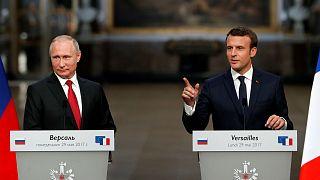En directo: Conferencia de prensa con Emmanuel Macron y Vladímir Putin