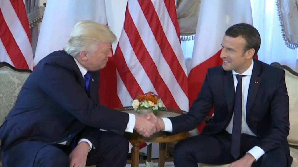 "Donald Trump handshake a ""moment of truth"" says Emmanuel Macron"