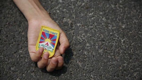 Protesta tibetana contra la opresión china