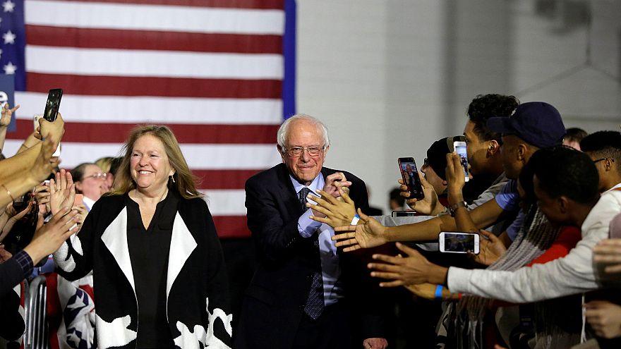 Image: 2020 U.S. presidential candidate and U.S. Senator Bernie Sanders and