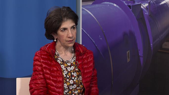 """Fabiola Gianotti, CERN: """"95% of the universe is unknown to us."""""""