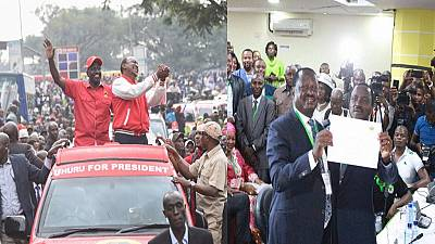 Kenyatta, Odinga and 6 others declared candidates in Kenya's August elections