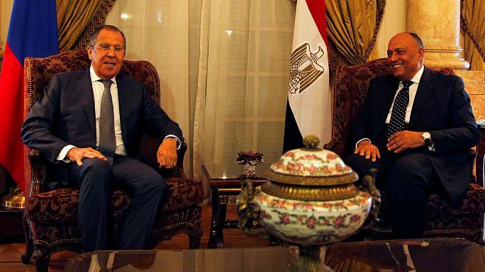 مباحثات للافروف في القاهرة