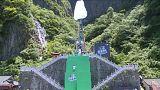 Lélegzetelállító helyen tartottak parkour-versenyt Kínában