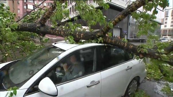 13 قتيلاً في موسكو بسبب اعصار