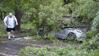 El fuerte temporal deja once muertos en Moscú