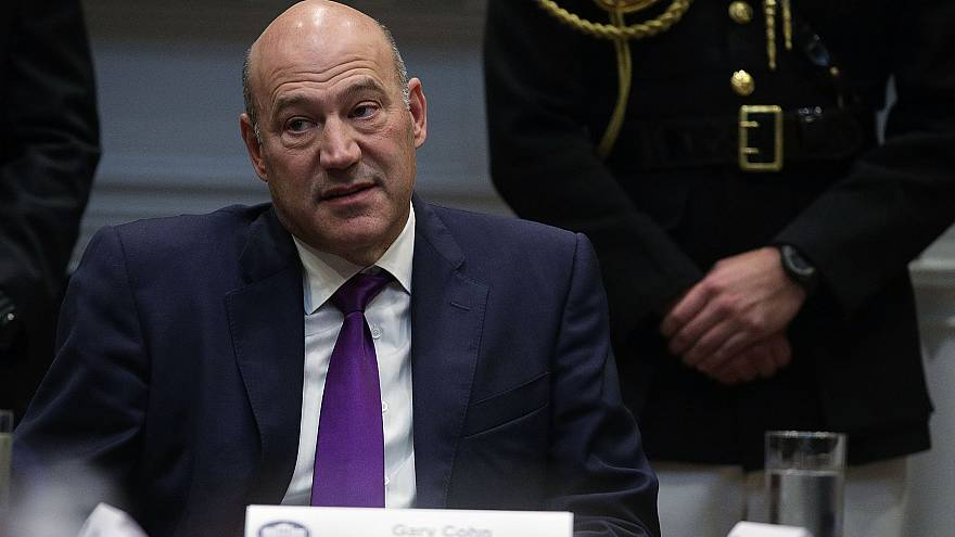 Image: Director of the National Economic Council Gary Cohn listens during a