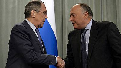 Egyptian, Russian foreign ministers meet in Cairo