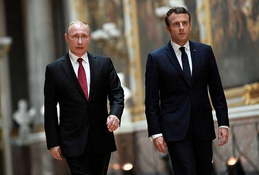 Путин и Макрон: первая встреча
