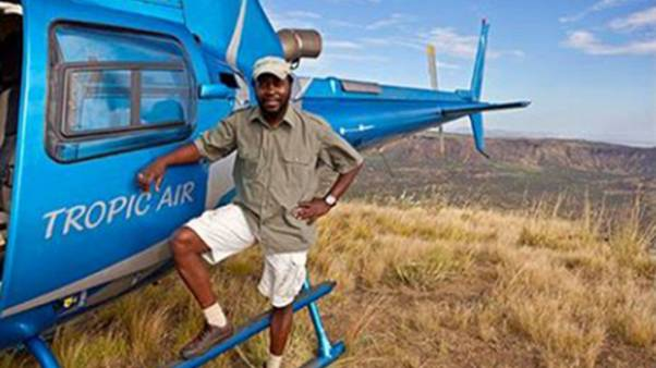 Image: Captain Mario Magonga was killed in a helicopter crash in Kenya on M