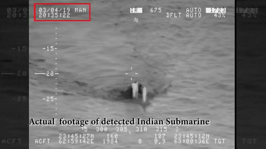 Image: A submarine, that Pakistan Navy claims to be a detected Indian subma
