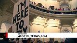 Акция протеста в Палате представителей Техаса