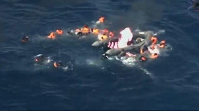 Rescate de 34 emigrantes en el Mediterráneo