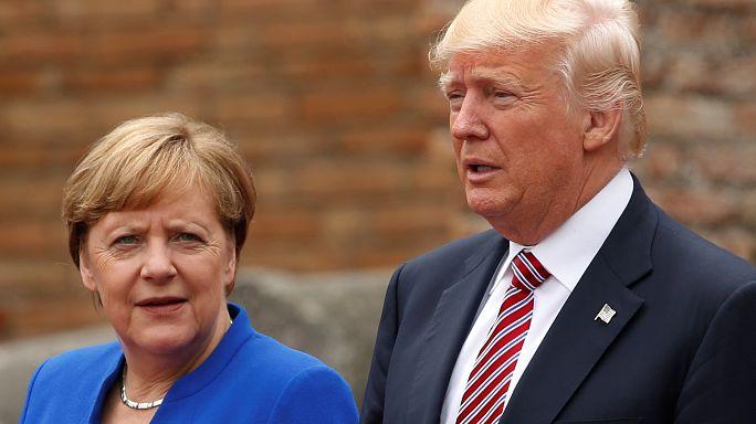 Face à Trump, Merkel presse l'Europe de prendre son destin en main