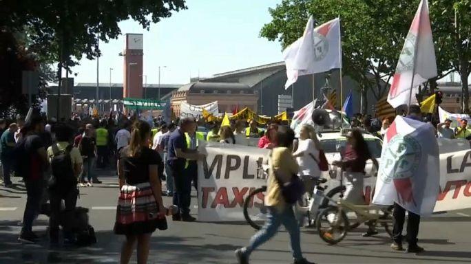 Un día sin taxis en España