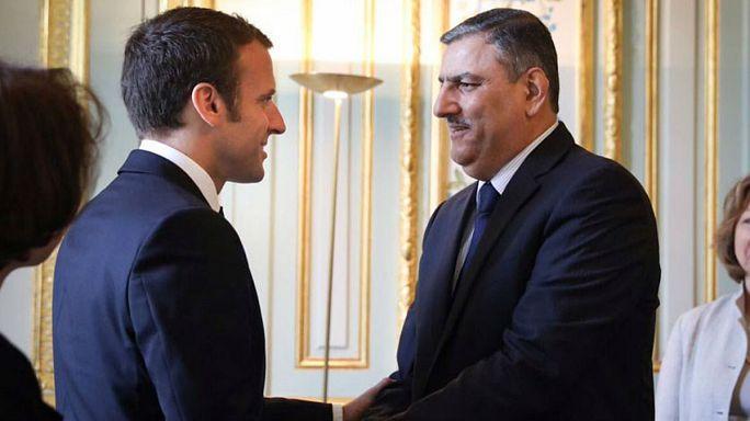 الرئيس الفرنسي التقى وفدا من المعارضة السورية
