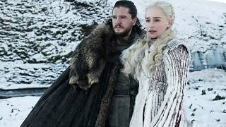 "Image: Kit Harington and Emilia Clarke appear in season 8 of HBO's ""Game of"