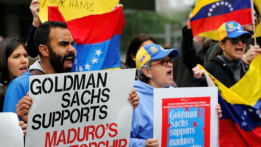 Venezuela: Goldman Sachs protest