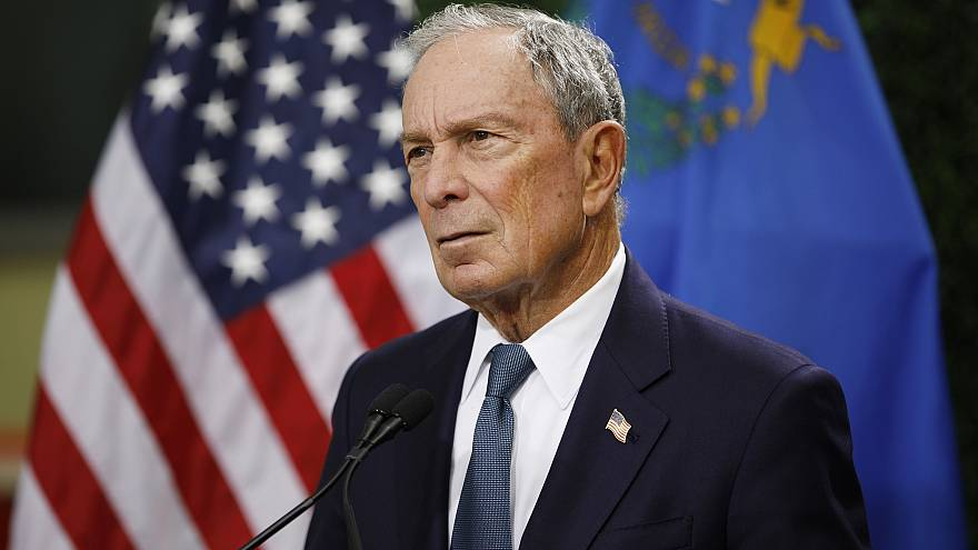 Image: Michael Bloomberg speaks at a news conference at a gun control advoc