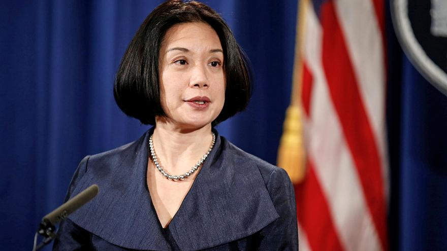 Image: United States Attorney for the District of Columbia Jessie Liu speak