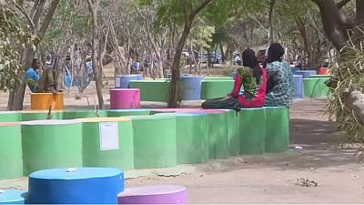 Senegalese recycling initiative turns waste into colorful benches