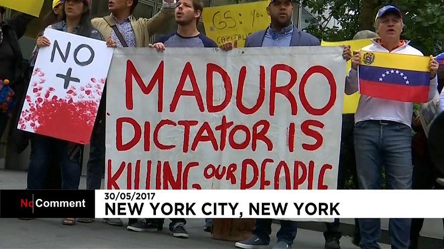 Protestas contra el acuerdo entre Goldman Sachs y Venezuela