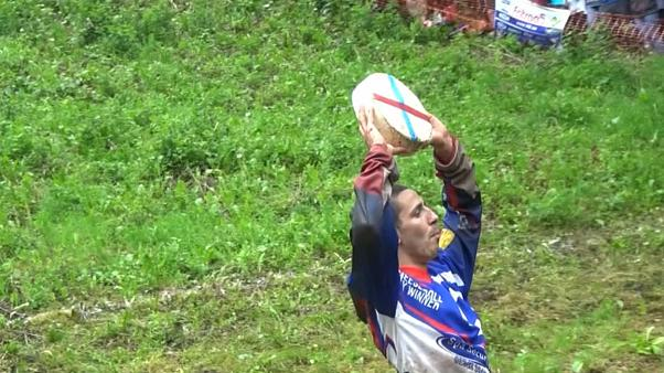 Thousands turn out for annual Gloucestershire cheese rolling event
