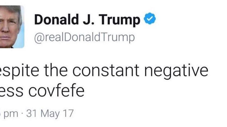 """Der missratene Trump-Tweet: alle so """"covfefe"""""""
