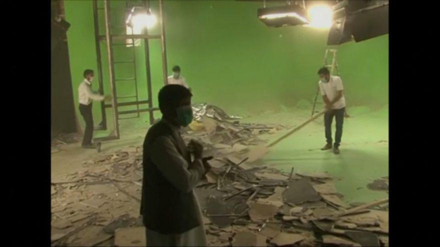 أضرار مادية جسيمة تلحق بالتلفزيون الأفغاني جراء اعتداء كابول