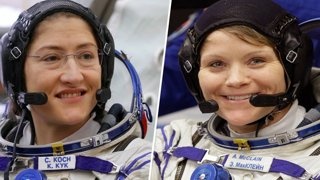Christina Koch and Anne Mcclain