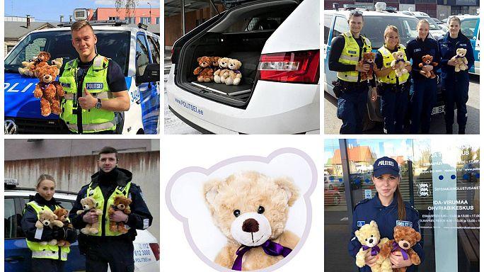 Estonie : des ours en peluche s'invitent dans les voitures de police