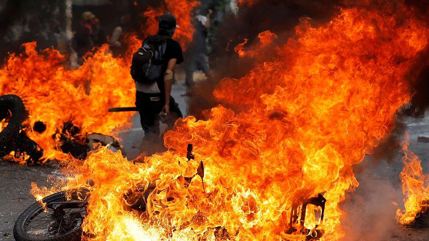 Антиправительственные выступления в Каракасе