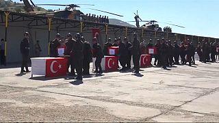 Helikopter kazası: Şehit askerler için resmi tören