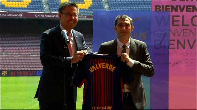 Valverde is presented as new Barcelona boss
