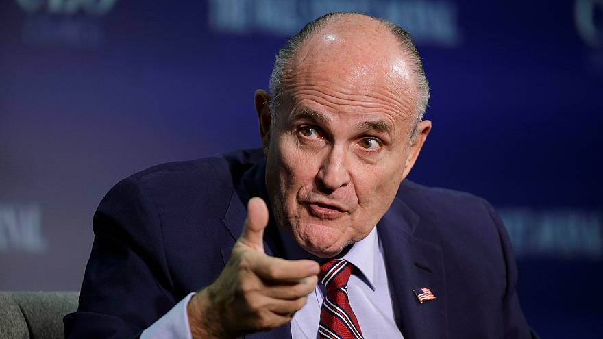 Image: Rudy Giuliani speaks at the Wall Street Journal CEO Council in Washi