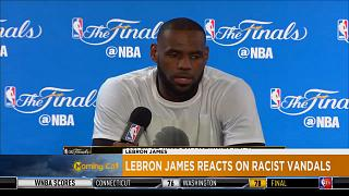 LeBron James issues powerful response after racist vandals [Sport]