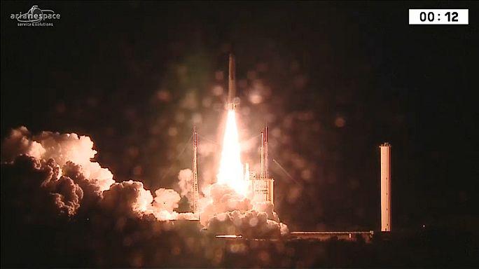 Ariane-Rakete bringt europäischen Satelliten ins All