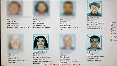 A sample of names and photos from the list. KNSD blurred the names and photos of individuals who haven\'t given permission to publish their information.