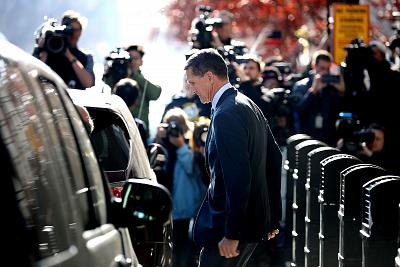 Michael Flynn leaves federal court following his plea hearing on Dec. 1, 2017 in Washington.