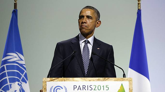 How did Trump and Obama's speeches on climate change differ?